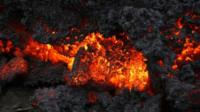 A close up of lava from an eruption on Holuhraun, northwest of the Dyngjujoekull glacier in Iceland, Monday, Sept. 1, 2014
