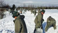 National Guard clearing snow