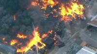 Factory fire in western Sydney, Australia