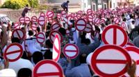 Opposition protesters against the Bahrain elections