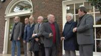 "Nine of the original ""hooded men"" were in Dublin to hear a call for the Irish government to take the UK to the European Court"