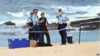 The scene where a baby girl's body was found buried in the sand at Sydney's Maroubra beach