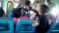 phone video of the incident on the bus