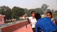 Sisters fighting men