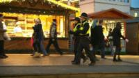 Police in the Christmas market