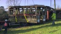 moving tram