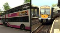 Bus and train