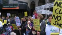 Children's centre protest