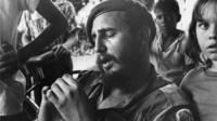 Fidel Castro as a young guerrilla leader
