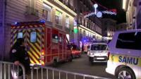 Emergency services at Nantes Christmas market