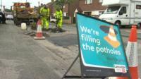 Men working on repairing a road