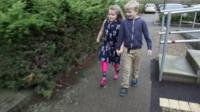 Grace and Thomas Matthews out walking
