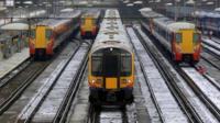 Trains at Clapham Junction