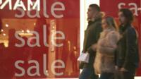 Post-Christmas sales in Manchester