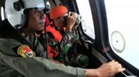 Indonesian air force crew during search for AirAsia flight QZ8501, 2 January 2015