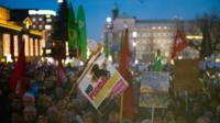 People protest against right-wing initiative PEGIDA