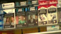 Cigarettes on sale in a shop in Uruguay