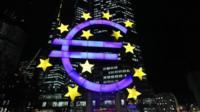 illuminated Euro sign