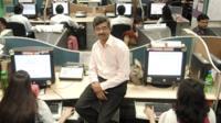 Pramod Bhasin at his call centre in Delhi, India