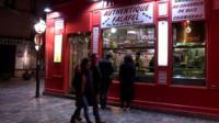 Falafel cafe in Paris