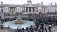 Crowds in Trafalgar Square