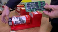 A 'black box' flight recorder and the internal circuit board