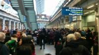 Queues at St Pancras