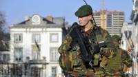 Belgian soldier guarding US embassy