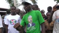 Supporter of President Nkurunziza