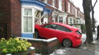 A car crashed into a house in Sheffield