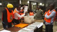 Votes are counted in Lusaka