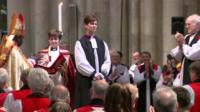 Libby Lane has been ordained as the Church of England's first female bishop