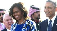 US President Barack Obama and First Lady Michelle Obama