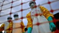 Medical staff treating Ebola cases in West Africa