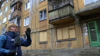 Olga Ivshina reports from a residential area in Donetsk