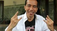 President Joko Widodo wearing Napalm Death t-shirt