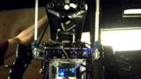 Robot fire-fighter developed by the US navy.