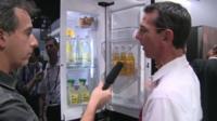 Richard Taylor with smart fridge