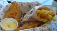 Food from Kabul's first British fish and chip shop