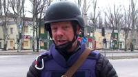 The BBC's Ian Pannell reports from the outskirts of Donetsk