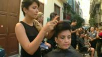 Cuban Americans send money to relatives to pay for businesses such as hairdressing