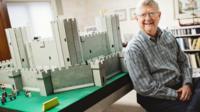 Bob Carney with Lego Rhuddlan Castle