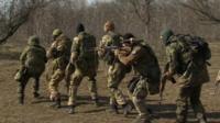 Troops near Mariupol