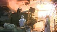 The steel works in Mariupol