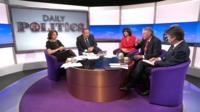 Jo Coburn, Andrew Neil, Claire Perry, Hilary Benn and Nick Watt