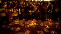 Candlelit vigil in December 2014 protesting violence against women in India