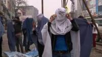 Men in Burqas