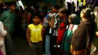 People queuing in Mumbai