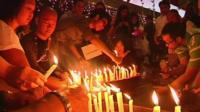 Vigil for the missing of flight MH370