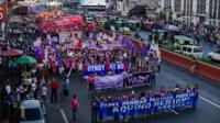 Marchers in the Philippines